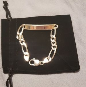 Jewelry - New 925 Italian Sterling Silver ID Chain Bracelet